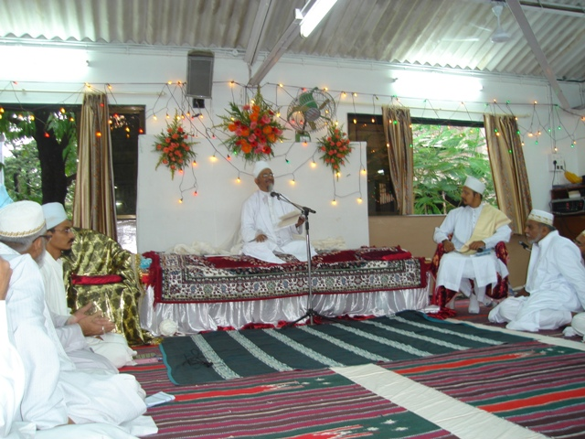 Bayaan of Mazoon ud-Da'wat during the misaaq of Mumbai Jamaa'at at Zenith Hall