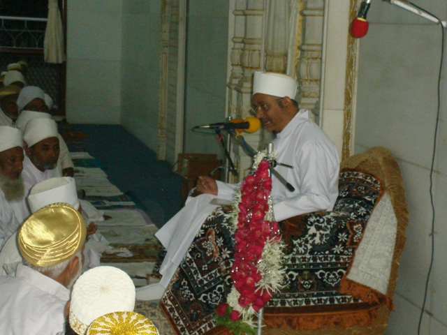 Taqreer of Mazoon ud-Da'wat during the Maghrib Namaaz at Nooraani Masjid