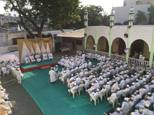 Alavi Bohras: Bird-view of the Opening Ceremony, Aqaa Maulaa sitting in the centre of the stage